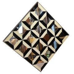Optical Illusion Diamond Pop Art Mirror in the Style of Verner Panton