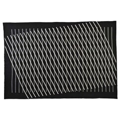 Optical Line Blanket by Roberta Licini