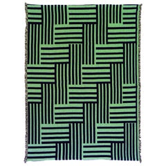 Optical Woven Throw Blanket