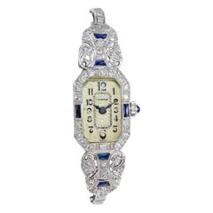 Optima Platinum and 14 Karat Dress Watch with Modern Quartz Movement circa 1930s