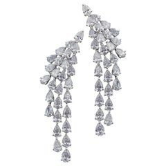 Opulent 18 Karat Gold and Diamond Multi Occasion Earrings