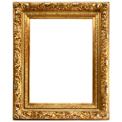 Opulent 19th Century Frame in French Louis XV Style Gilded Gesso Frame