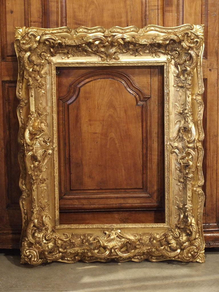 Opulent 19th Century French Louis Xv Style Gold Leaf