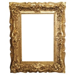 Opulent 19th Century French Louis XV Style Gold Leaf, Giltwood and Plaster Frame