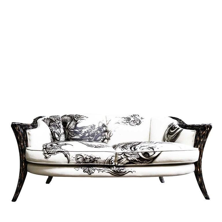 Italian Opus Futura 2-Seat Tattoo Sofa by Carlo Rampazzi For Sale