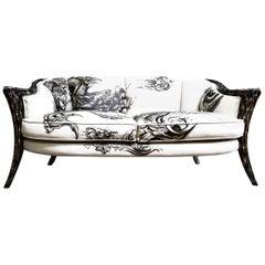 Opus Futura 2-Seat Tattoo Sofa by Carlo Rampazzi