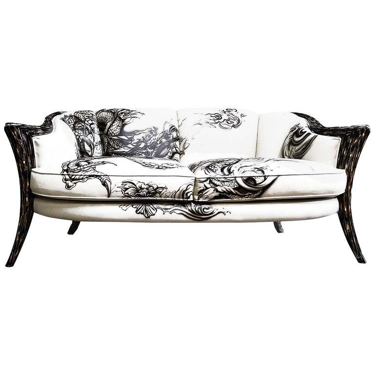 Opus Futura 2-Seat Tattoo Sofa by Carlo Rampazzi For Sale