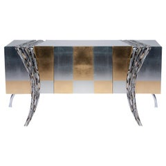 Opus Futura Gold and Silver Sideboard by Carlo Rampazzi