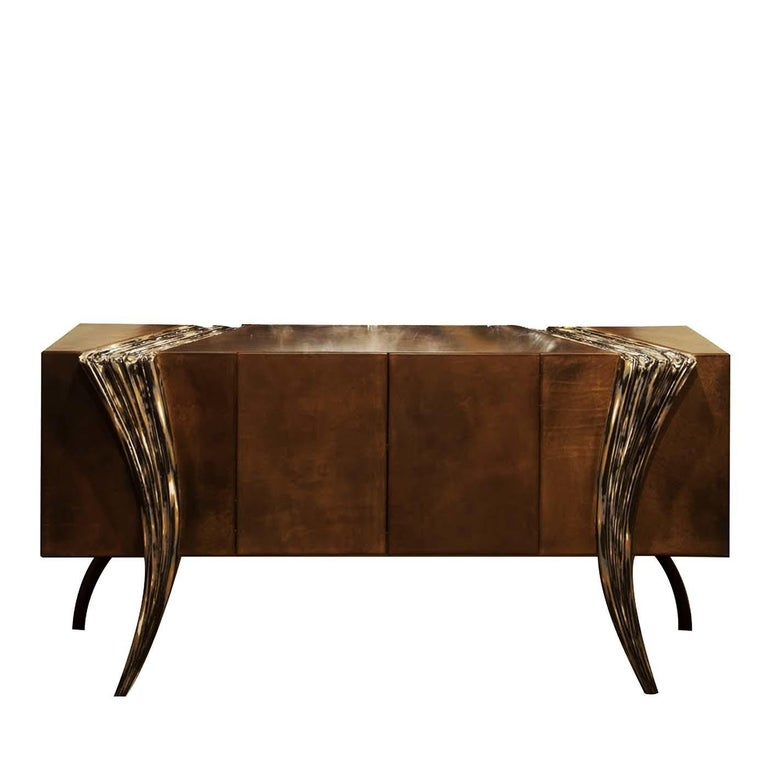 Opus Futura Leather Sideboard For Sale