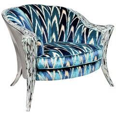 Opus Futura Silver Armchair by Carlo Rampazzi