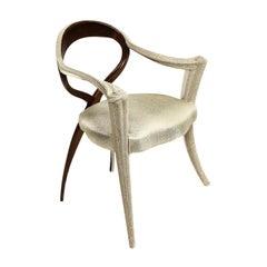 Opus Futura White Caviar Chair by Carlo Rampazzi