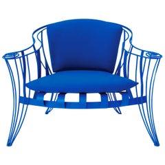 Opus Garden Blue Armchair by Carlo Rampazzi
