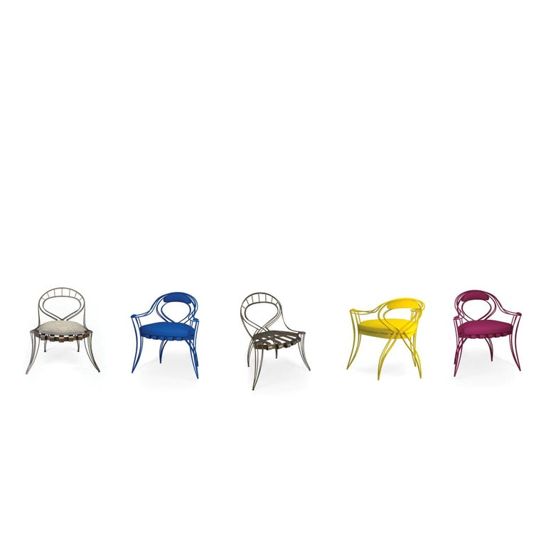 Opus Garden Magenta Chair with Armrests by Carlo Rampazzi In New Condition For Sale In Milan, IT