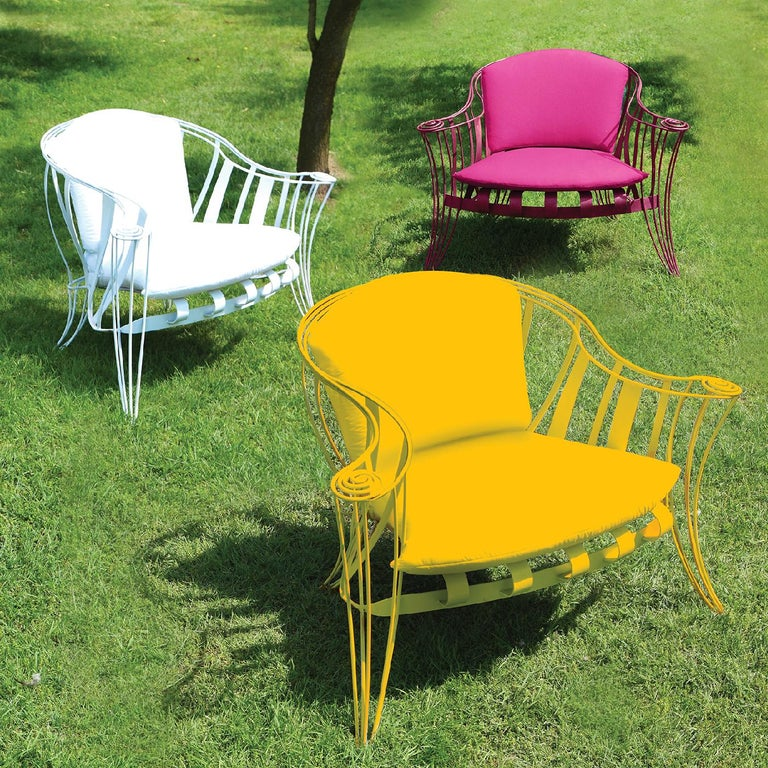 Opus Garden Yellow Armchair by Carlo Rampazzi In New Condition For Sale In Milan, IT