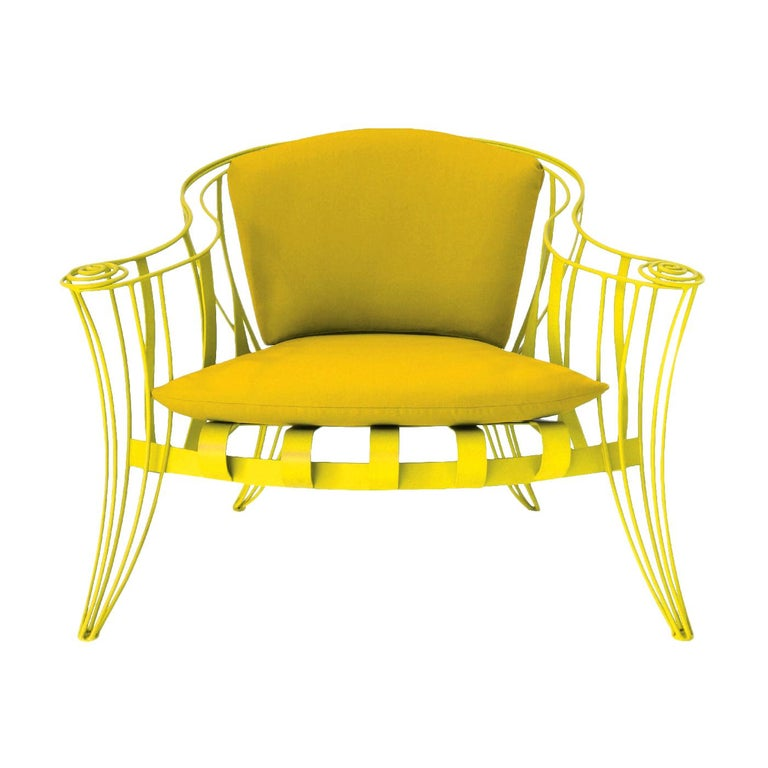 Opus Garden Yellow Armchair by Carlo Rampazzi For Sale