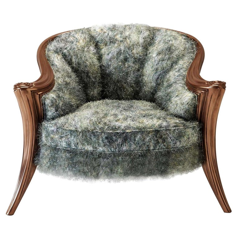Opus Metallica Armchair by Carlo Rampazzi For Sale