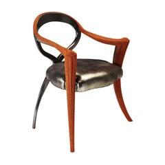 Opus Metallica Red Caviar Chair by Carlo Rampazzi