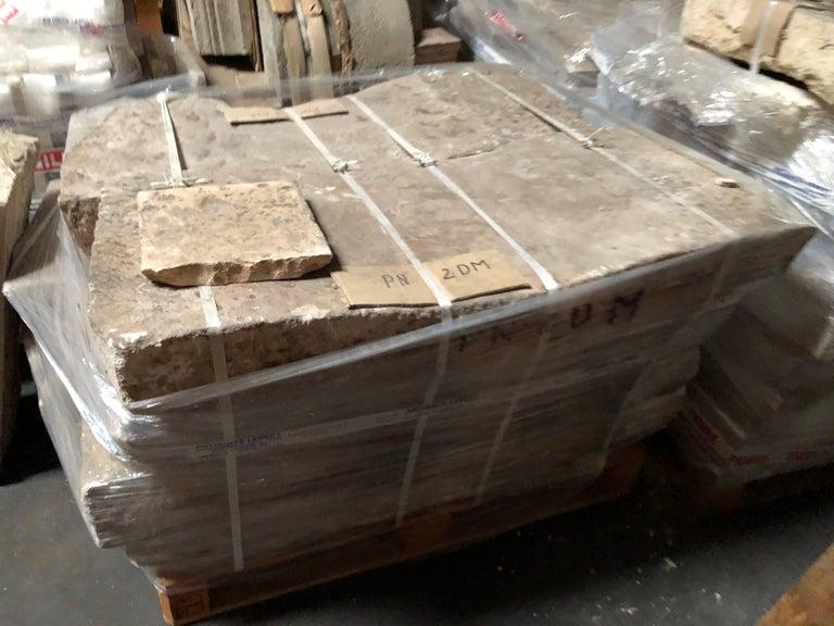 Opus Roman Solid Antique Limestone Flooring, 17th Century For Sale 1