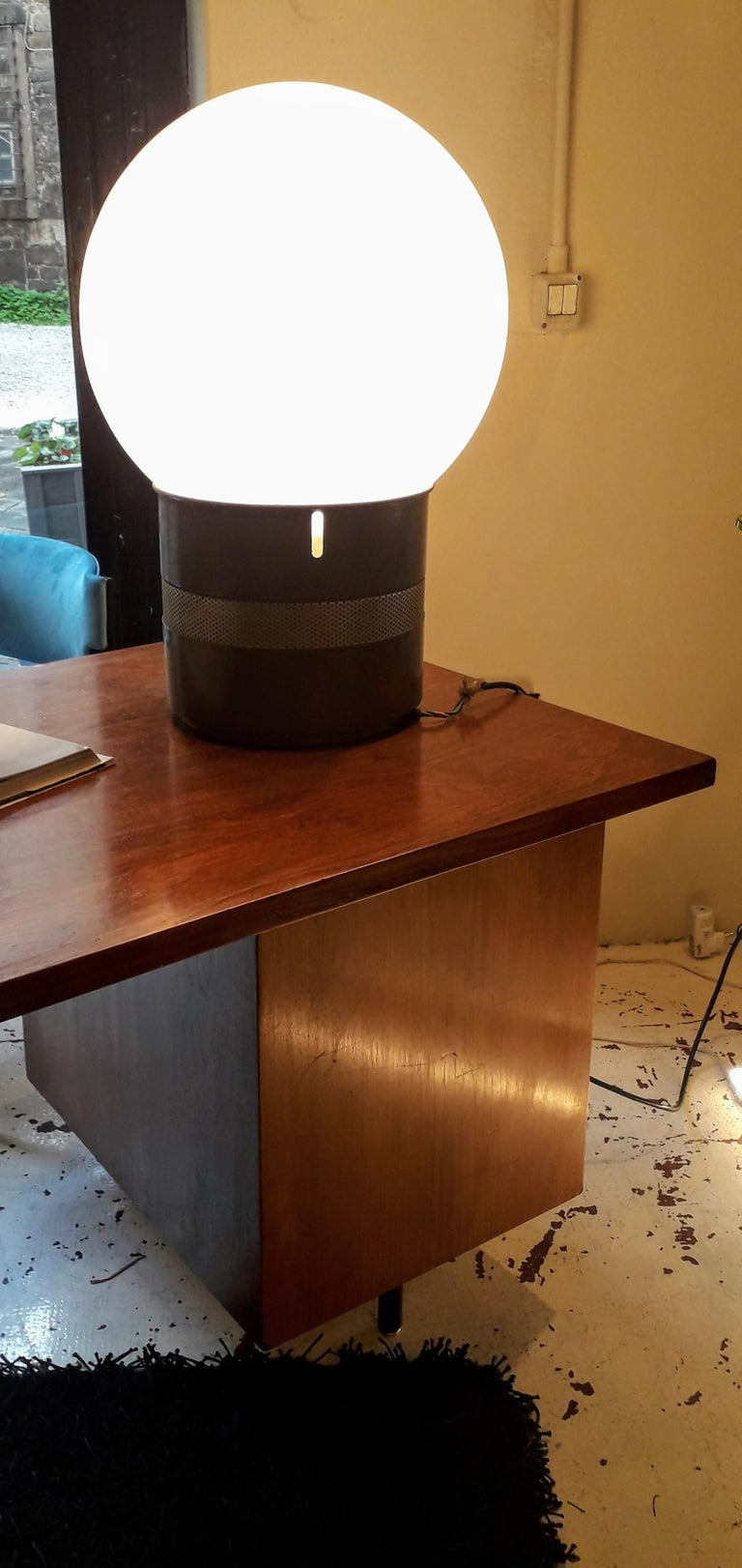 Metal Oracolo Lamp by Gae Aulenti from Artemide, Italy, 1968 For Sale