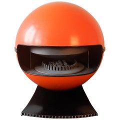 Orange '2000' Gas Heater by Richard Wolthekker for Faber, the Netherlands, 1970s