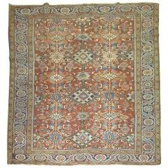 Orange All-Over Antique Persian Heriz Carpet