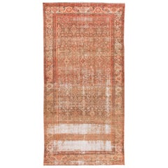 Orange Antique Malayer Handmade Wool Runner