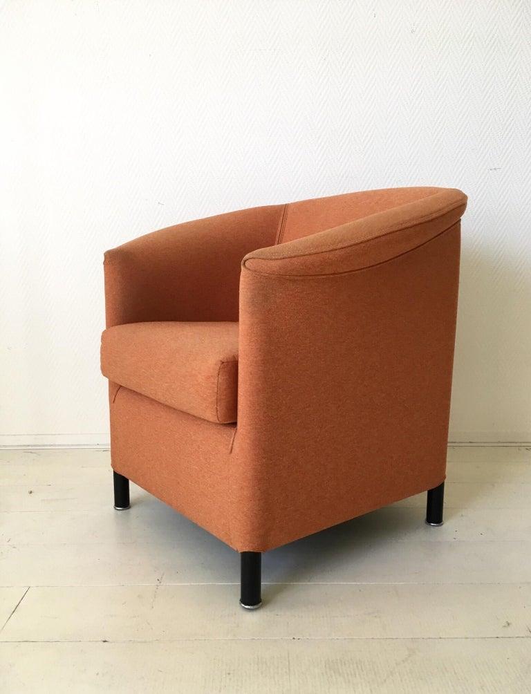 Austrian Orange Armchair by Paolo Piva for Wittmann, Model Aura For Sale