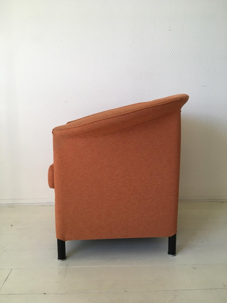 Orange Armchair by Paolo Piva for Wittmann, Model Aura In Good Condition For Sale In Schagen, NL