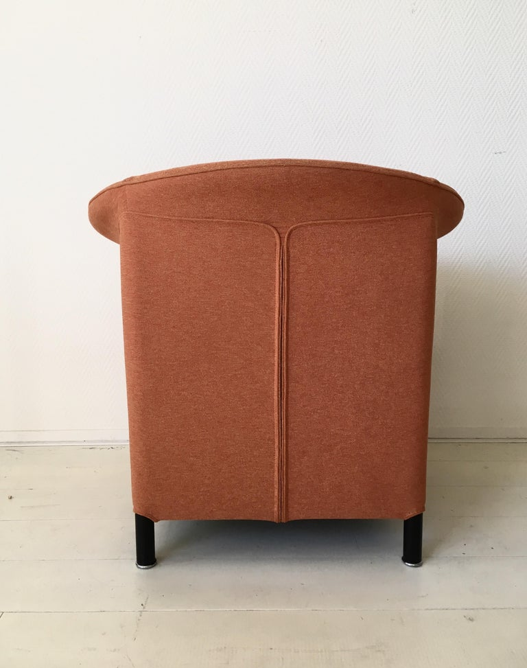 Contemporary Orange Armchair by Paolo Piva for Wittmann, Model Aura For Sale