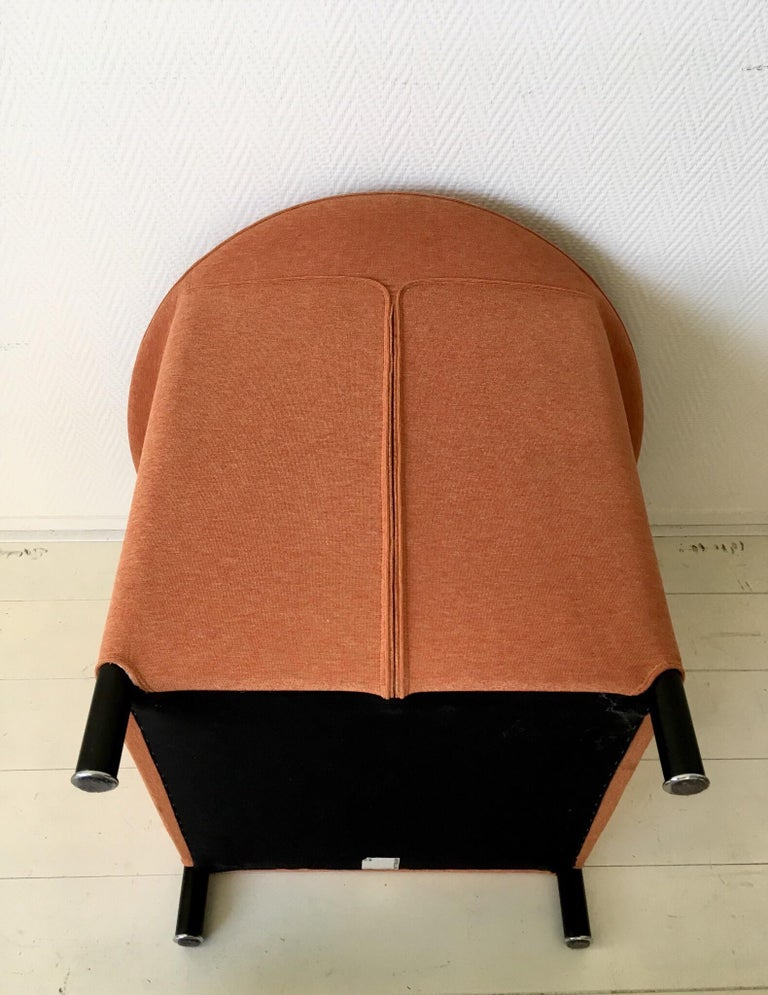 Fabric Orange Armchair by Paolo Piva for Wittmann, Model Aura For Sale