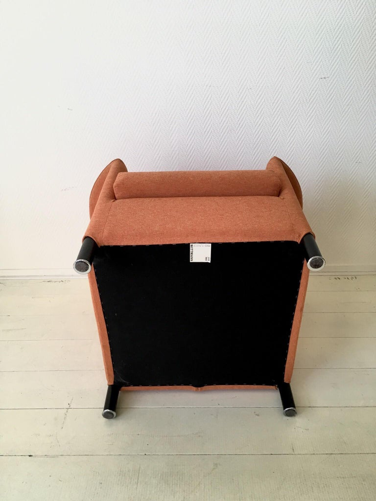 Orange Armchair by Paolo Piva for Wittmann, Model Aura For Sale 1