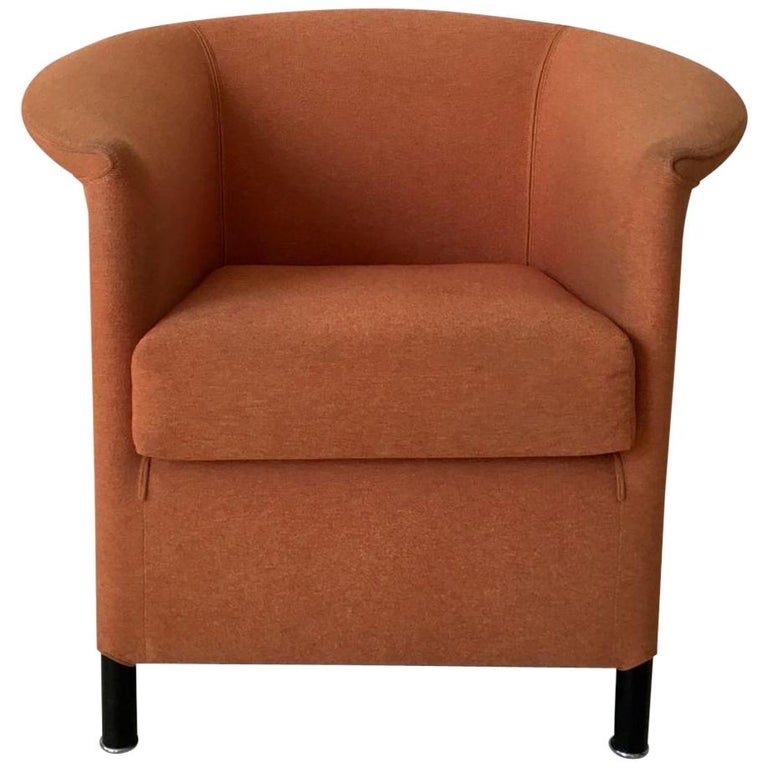 Orange Armchair by Paolo Piva for Wittmann, Model Aura For Sale