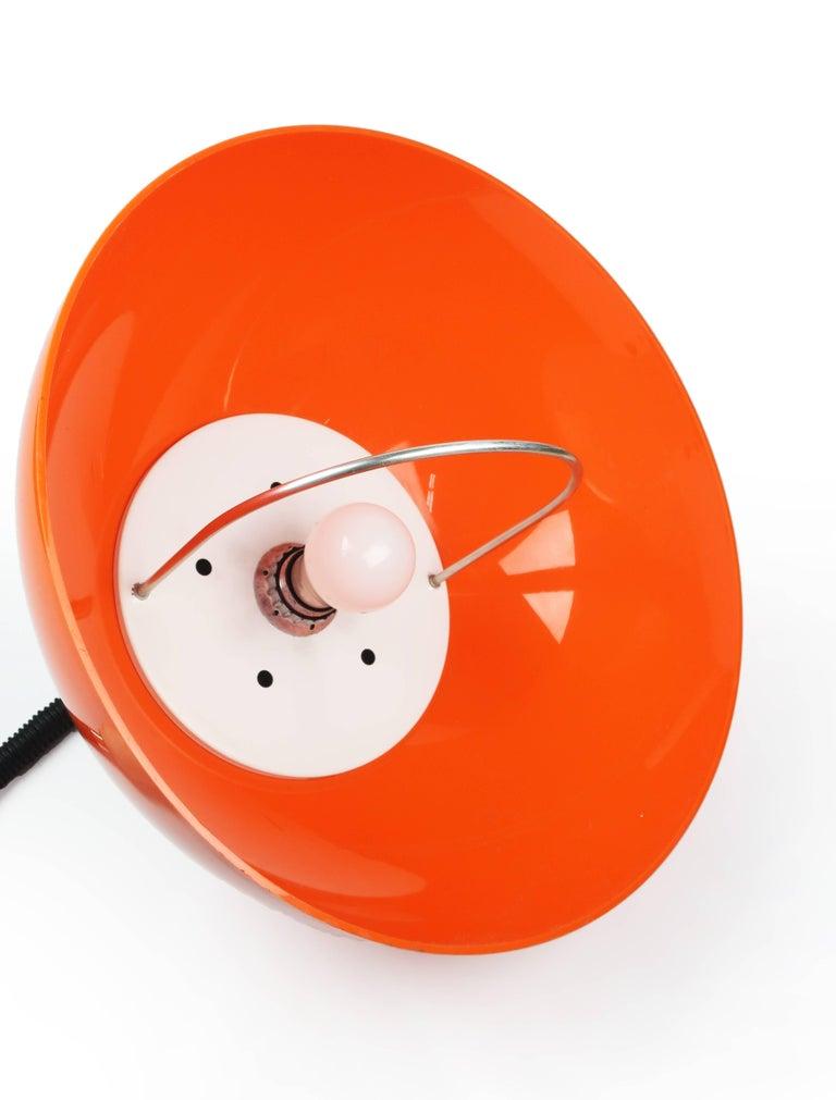 Italian Orange Brevettato Retractable Pendant Lamp For Sale