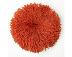Orange - Cameroon Juju Feather Head Dress