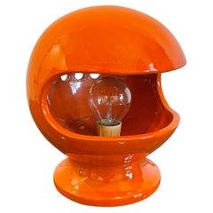 Orange Ceramic Table Lamp by Enzo Bioli for Il Picchio Space Age, Italy, 1960s