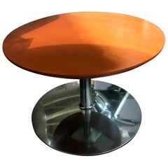 Orange Circle Table