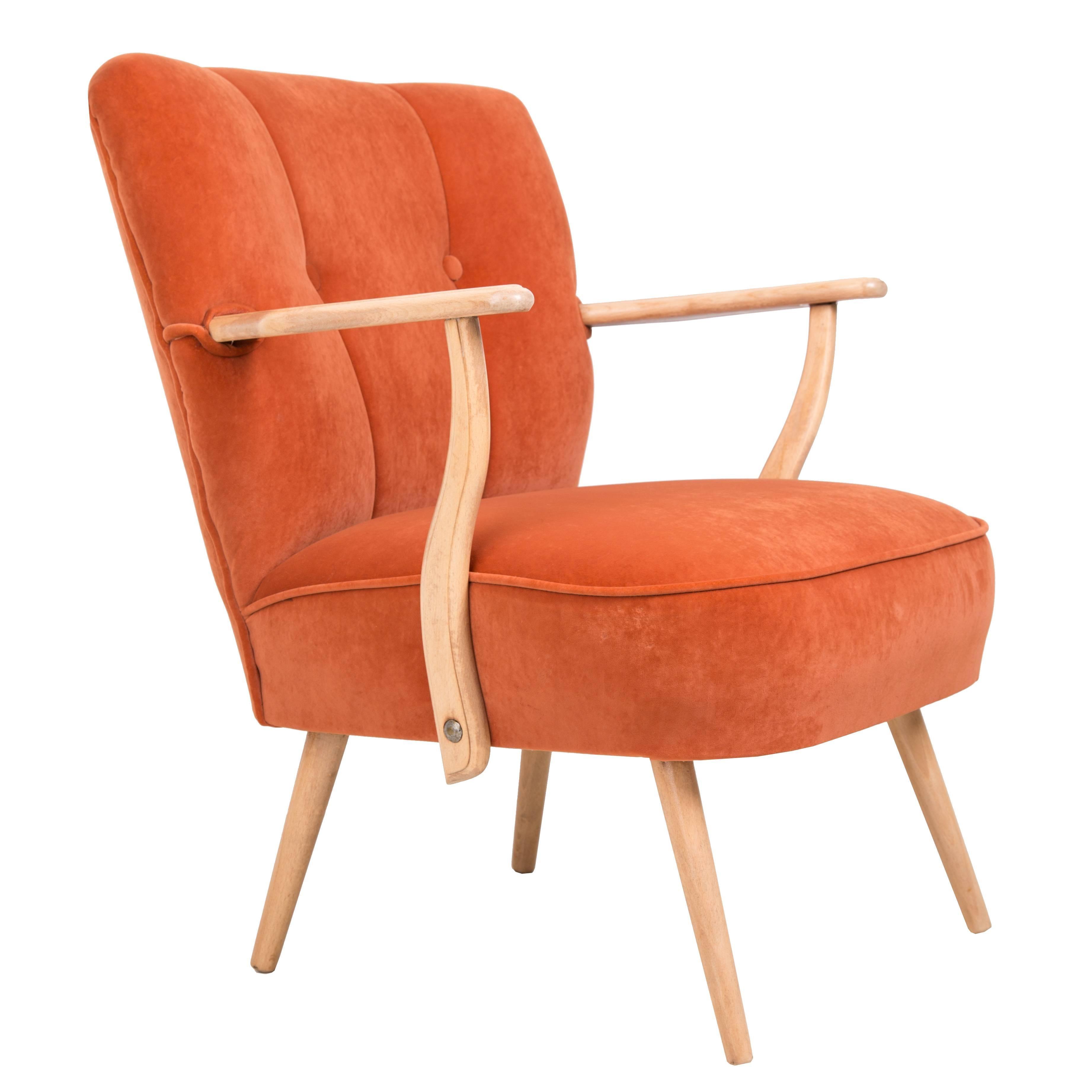 Orange Cocktail Armchair, Poland, 1960s
