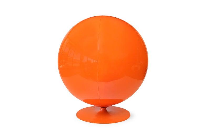 Mid-Century Modern Orange Eero Aarnio Ball Chair
