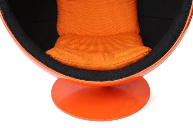 European Orange Eero Aarnio Ball Chair
