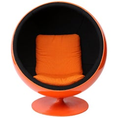 Orange Eero Aarnio Ball Chair