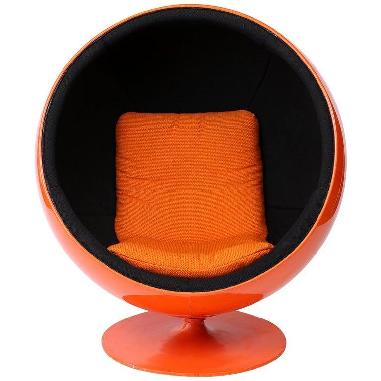 Orange Eero Aarnio Ball Chair