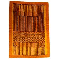Orange Ege Rya with Progressive Line Pattern