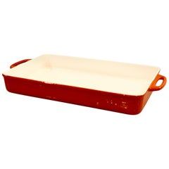 Orange Enameled Cookware Casserole by Copco Designed by Michael Lax