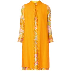 Tina Leser Orange Dress and tunic ensemble, circa 1973