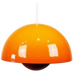 Orange Flowerpot, Model VP1, Pendant Designed by Verner Panton in 1968
