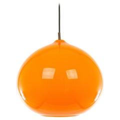 Orange Glass Pendant L 51 by Alessandro Pianon for Vistosi, 1960s