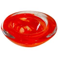 Orange Kosta Boda Bowl Votive by Anna Ehrne