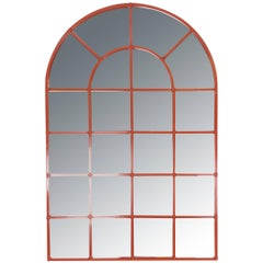 Orange Lacquered Arch Mirror