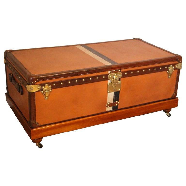 Orange Louis Vuitton Steamer Trunk, Orange Louis Vuitton Trunk, Vuitton Trunk For Sale