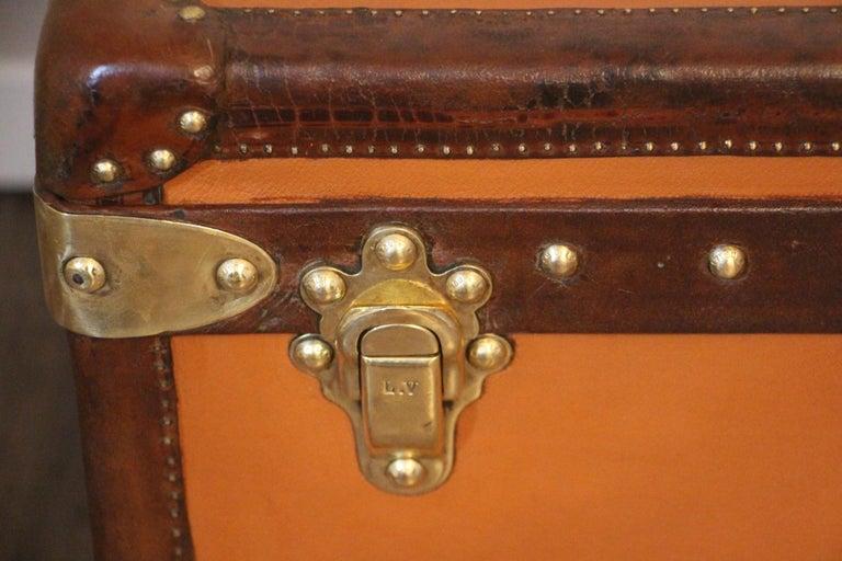 French Orange Louis Vuitton Steamer Trunk, Orange Louis Vuitton Trunk, Vuitton Trunk For Sale